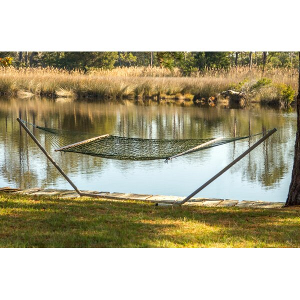 Biscayne Rope Double Tree Hammock by Highland Dunes