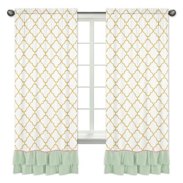 Ava Window Geometric Semi-Opaque Rod Pocket Curtain Panels (Set of 2) by Sweet Jojo Designs