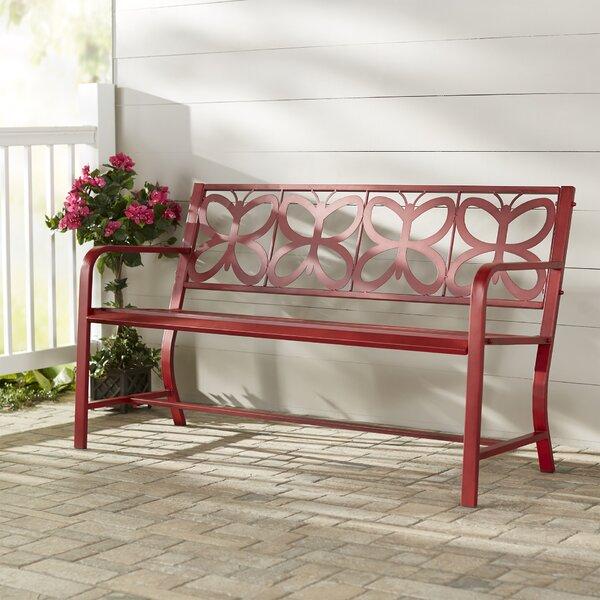 Nicholls Metal Garden Bench by Latitude Run