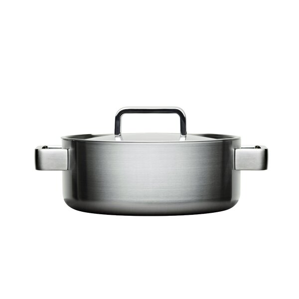 Sarpaneva Steel 3.17-qt.Round Casserole by Iittala