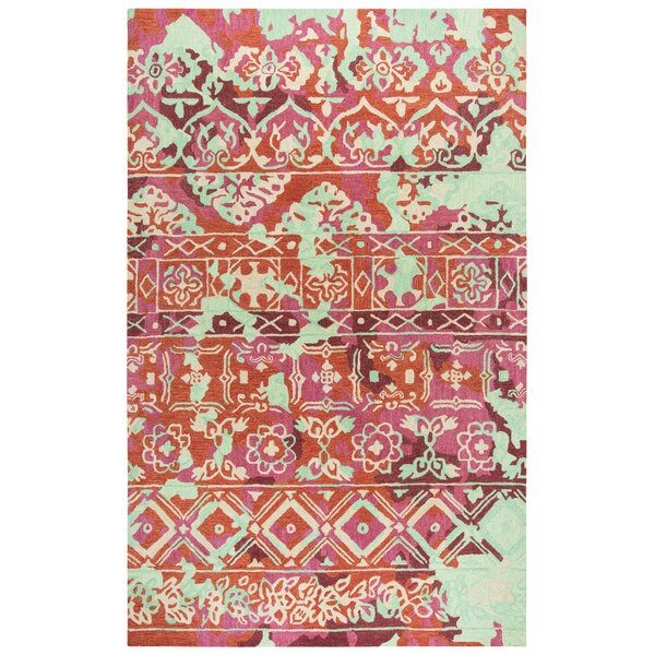 Duron Hand-Tufted Pink/Red Area Rug by Bungalow Rose