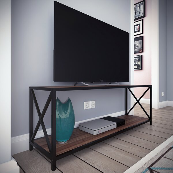 Altom X-Frame Metal Industrial TV Stand for TVs up to 55