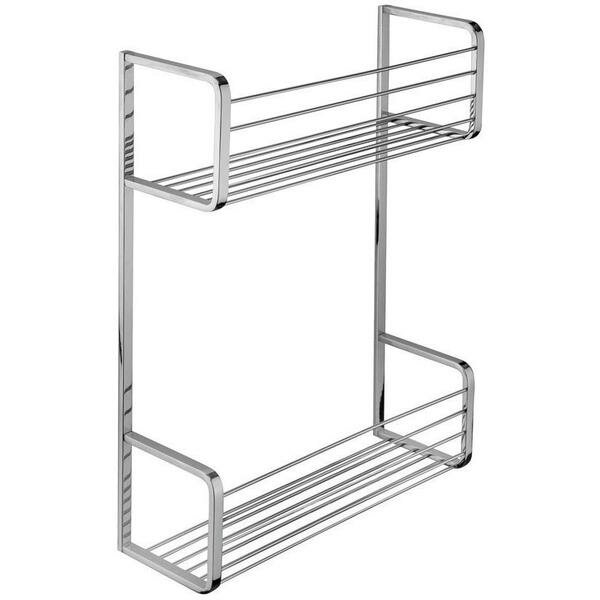 Koehler Wall Mount Shower Caddy Double Shelf Organizer by Symple Stuff
