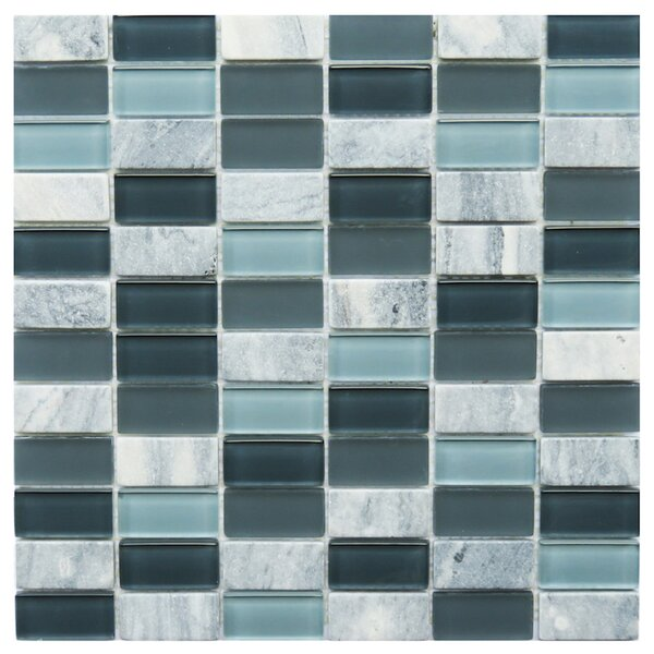 Catania 1 x 2 Natural Stone/Glass Mosaic Tile in Gray by NovoTileStudio