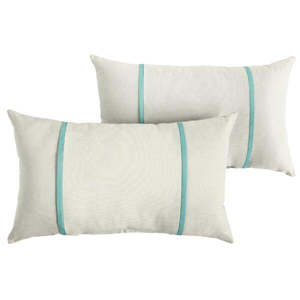 Cifuentes Indoor/Outdoor Sunbrella Lumbar Pillow (Set of 2) by Highland Dunes