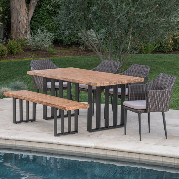 6 Piece Dining Set with Cushions by Gracie Oaks