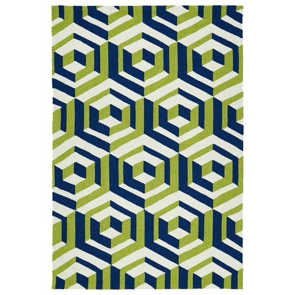 Doylestown Navy/Green Indoor/Outdoor Area Rug by Wrought Studio