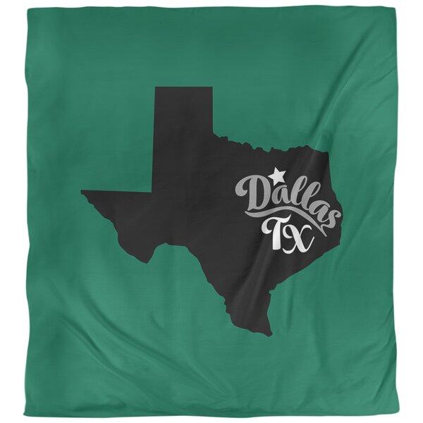 Dallas Texas Single Reversible Duvet Cover