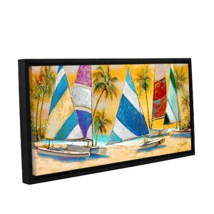 Grand Bay Sails Painting Print on Wrapped Canvas by Bay Isle Home