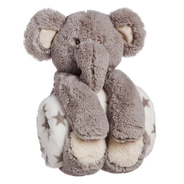 Helle Cuddly Elephant Stuffed Animal Blanket Gift Set by Viv + Rae
