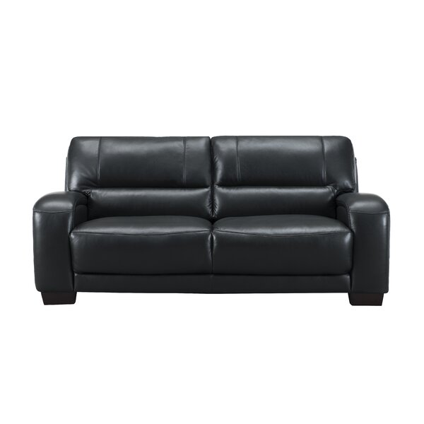 Hadsell Craft Leather Sofa By Orren Ellis Cool
