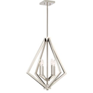 Greggory 4-Light Geometric Chandelier by Corrigan Studio