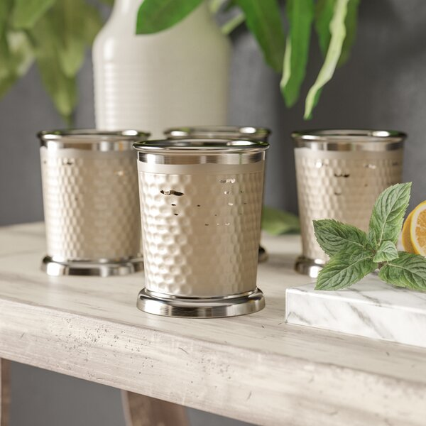 Alyda 12 Oz. Stainless Steel Mint Julep Cup (Set of 4) by Trent Austin Design