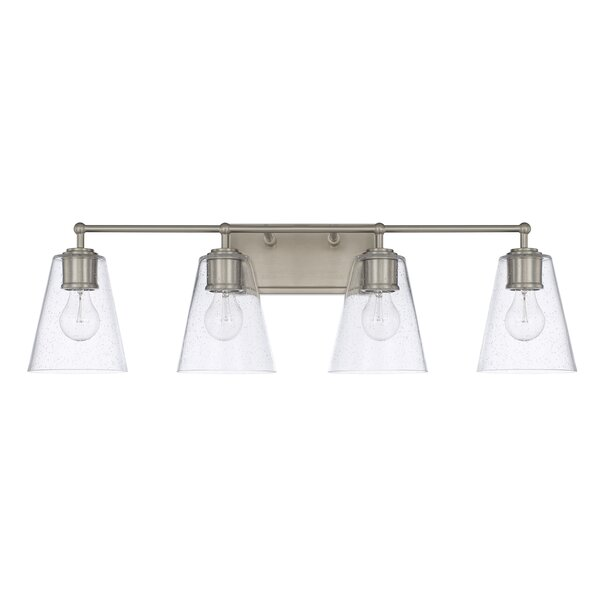 Gallego 4-Light Glass Shade Vanity Light by Three Posts