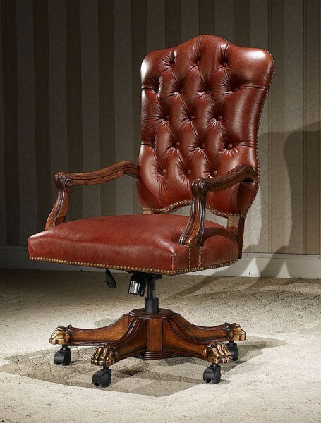 Prospect Heights Genuine Leather Executive Chair by Astoria Grand