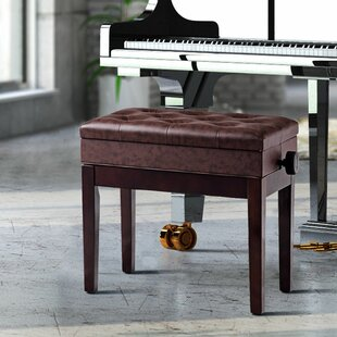 Citlali Height Adjustable Upholstered Storage Piano Bench