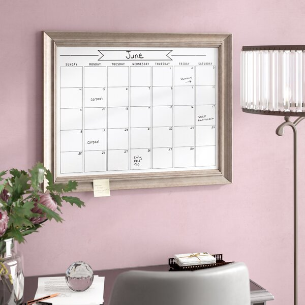 Wall Mounted Dry Erase Board by House of Hampton
