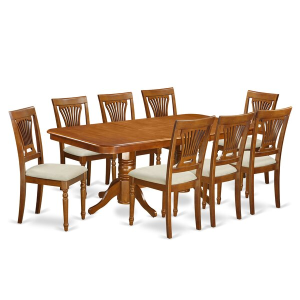 Pillsbury Modern 9 Piece Dining Set with Double Pedestal Table Legs by August Grove