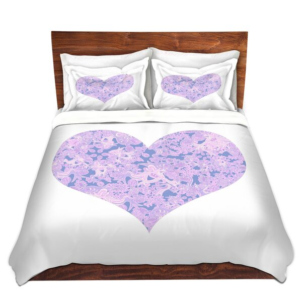 Dunwich Susie Kunzelman Heart Love Serenity Microfiber Duvet Covers