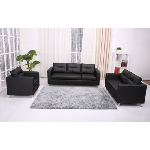 Clarence 3 Piece Living Room Set by Wade Logan