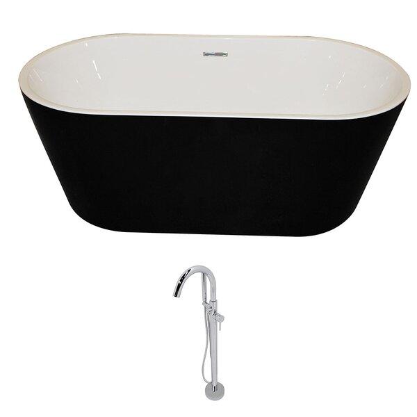 Dualita 64.75 x 31.4 Freestanding Soaking Bathtub by ANZZI
