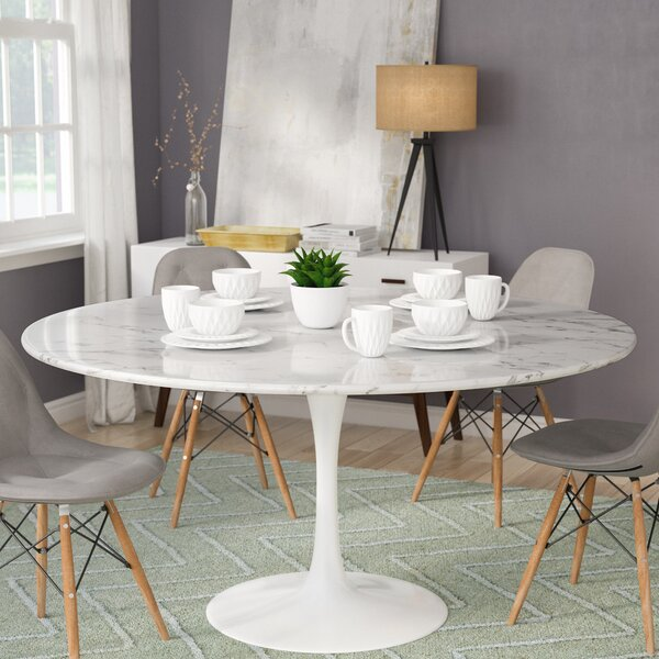 Julien Artificial Marble Round Dining Table by Langley Street Langley Street™