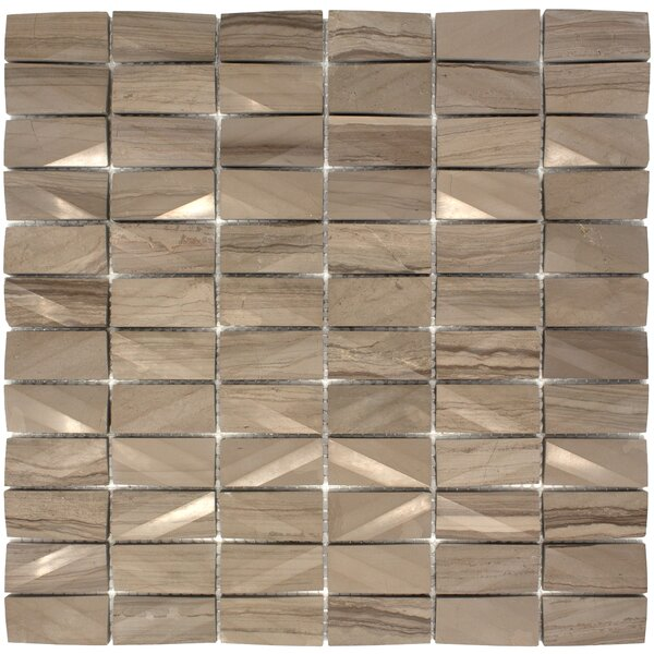 1 x 2 Marble Tile in Brown by Multile