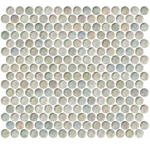 0.75 x 0.75 Glass Mosaic Tile in Clear by Susan Jablon