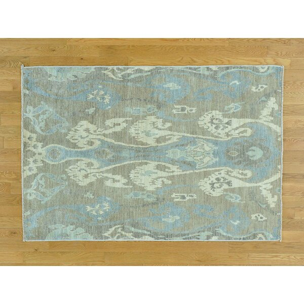 One-of-a-Kind Citlali Ikat Tribal Design Hand-Knotted Wool Area Rug by Isabelline
