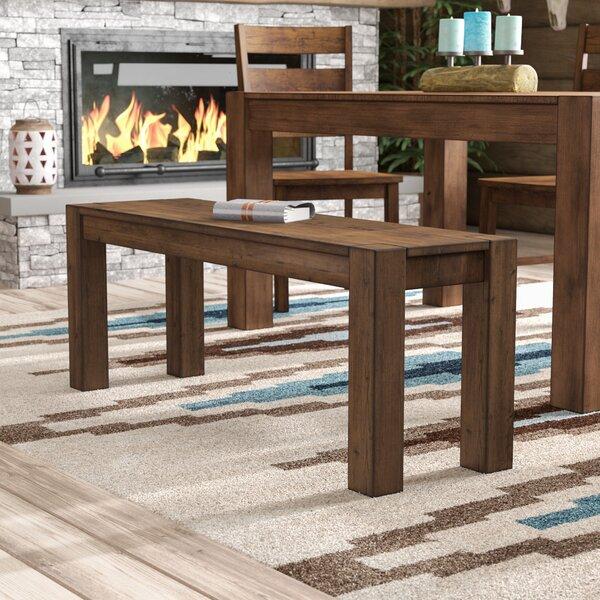 Maci Wood Bench by Mistana
