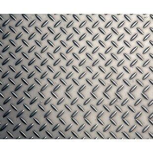 Diamond Plate Metal 8 X 118 6 Piece Wall Mural Set
