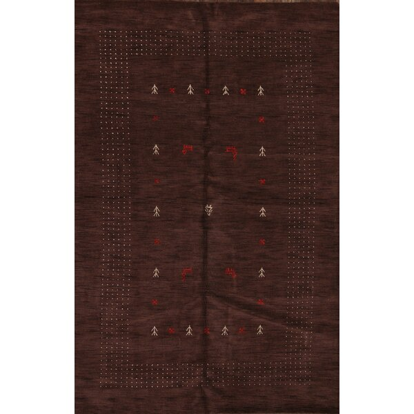 One-of-a-Kind Seidman Indian Oriental Hand-Woven Wool Brown Area Rug by Bloomsbury Market