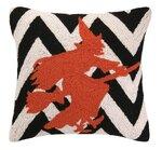 Halloween Witch Chevron Hook Throw Pillow by Peking Handicraft