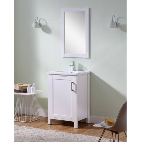 Hodgeman 24 Single Vanity Set with Mirror by Latitude Run