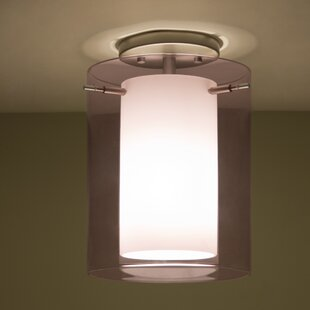 Affordable Pahu 1-Light Outdoor Semi Flush Mount By Besa Lighting