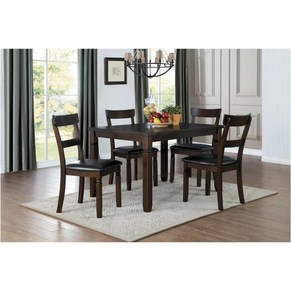 Sokolowski Dinette 5 Piece Solid Wood Dining Set by Red Barrel Studio