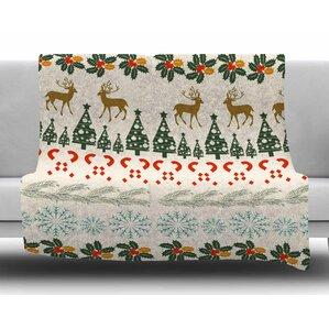 Christmas Vibes by Famenxt Fleece Blanket