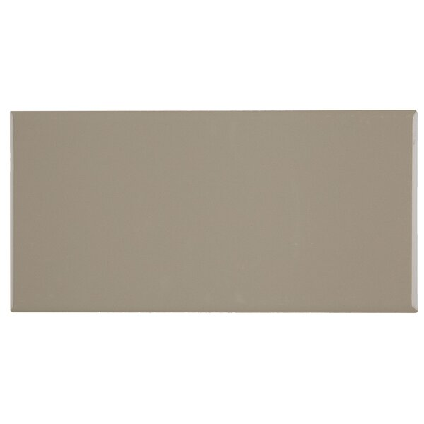 Berkeley 4 x 8 Ceramic Subway Tile in Urban Putty by Itona Tile