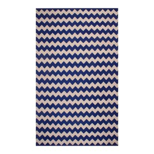 Comparison Carlos Chevron 100% Cotton Hand-Woven Area Rug By Harriet Bee
