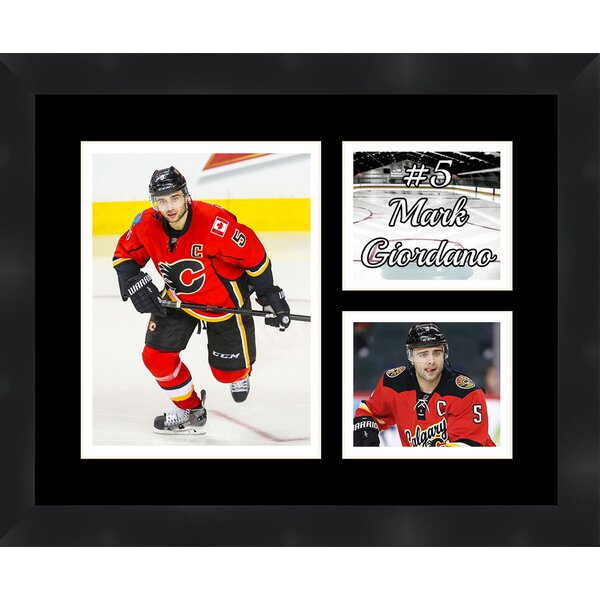 Calgary Flames Mark Giordano 5 Photo Collage Framed Photographic Print by Frames By Mail