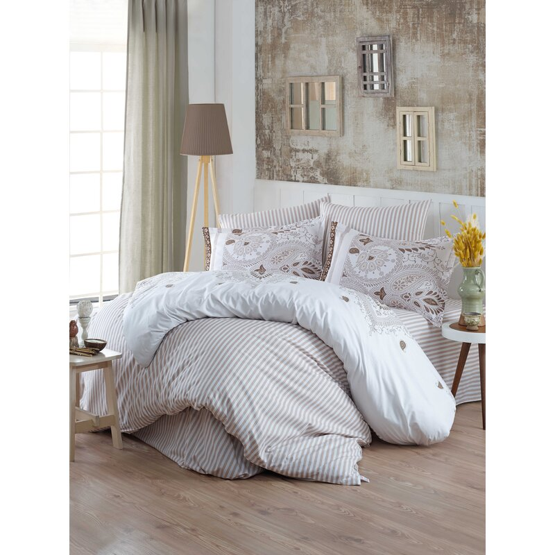 Charlton Home Varina Reversible Duvet Cover Set Wayfair