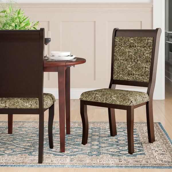 Nikolas Upholstered Side Chair In Green/Gray (Set Of 2) By Hokku Designs