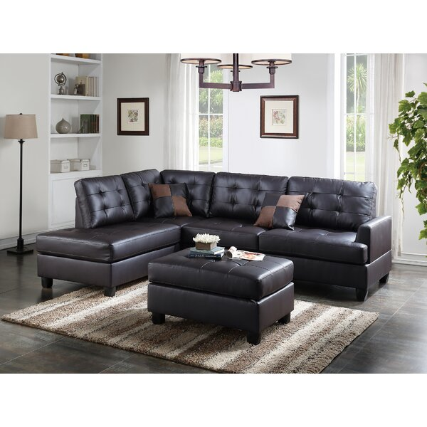 Online Shopping Giuliana Reversible Sectional with Ottoman Get The Deal! 67% Off