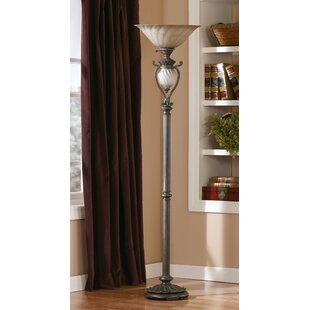 Compare Courson 73 Torchiere Floor Lamp By Fleur De Lis Living