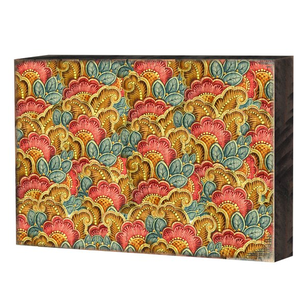 Decorative Block Graphic Art Print on Wood by World Menagerie