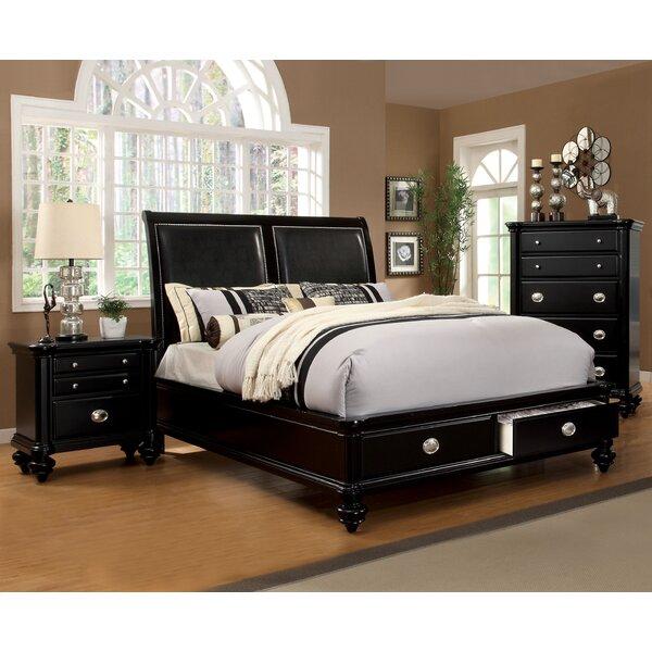 Garrick Upholstered Storage Platform Bed by Three Posts