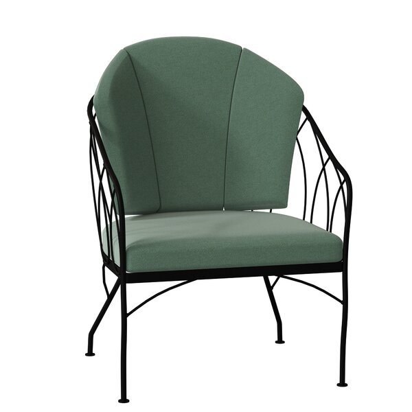 Delany Patio Dining Chair with Cushion by Woodard