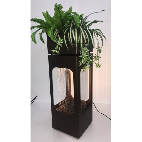 Metal Rain Shower Planter Fountain with Light by Hi-Line Gift Ltd.