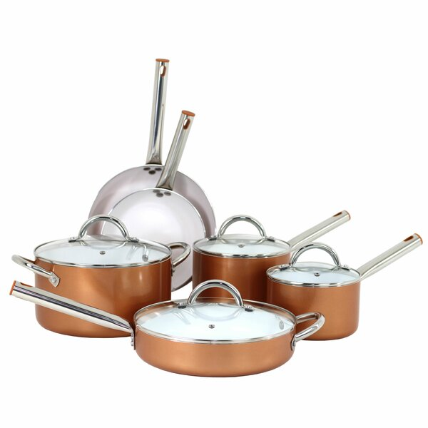 10 Piece Forged Non-Stick Cookware Set by Oneida