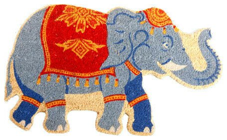 Indian Elephant Doormat by Coco Mats N More